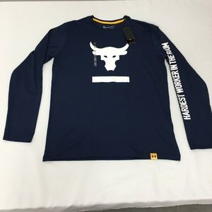 Under Armour Project Rock Long Sleeve Shirt Size L